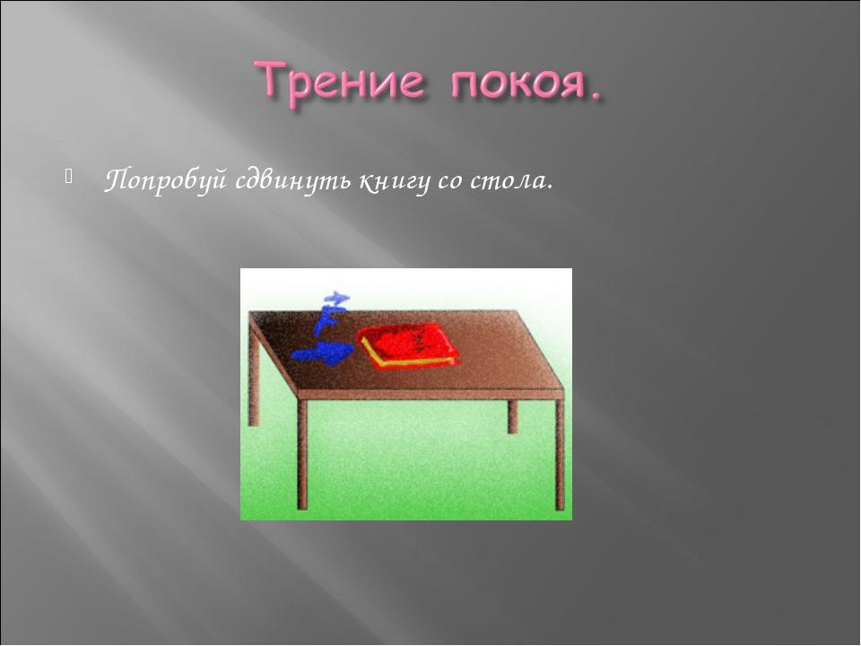 Попробуй сдвинуть книгу со стола.
