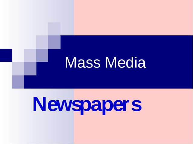 Mass Media Newspapers