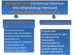 Воздействия (производственные или непроизводственные) человеческой деятельнос