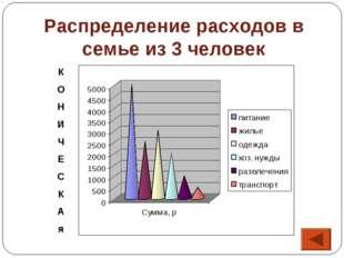 Распределение расходов в семье из 3 человек К О Н И Ч Е С К А я