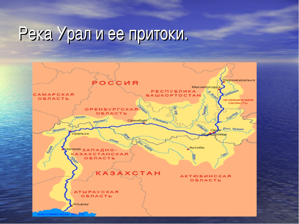 Река Урал и ее притоки.