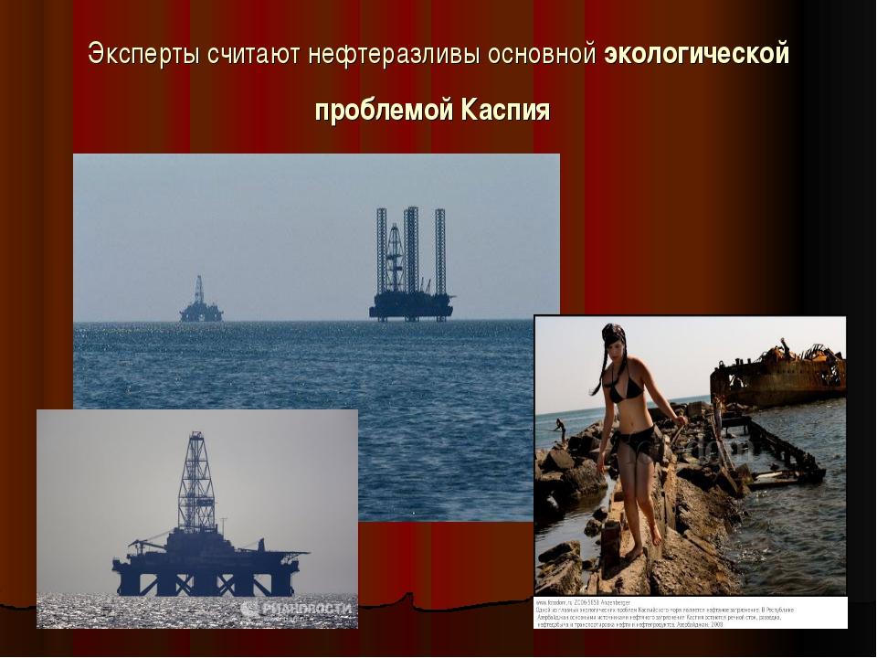 Эксперты считают нефтеразливы основной экологической проблемой Каспия