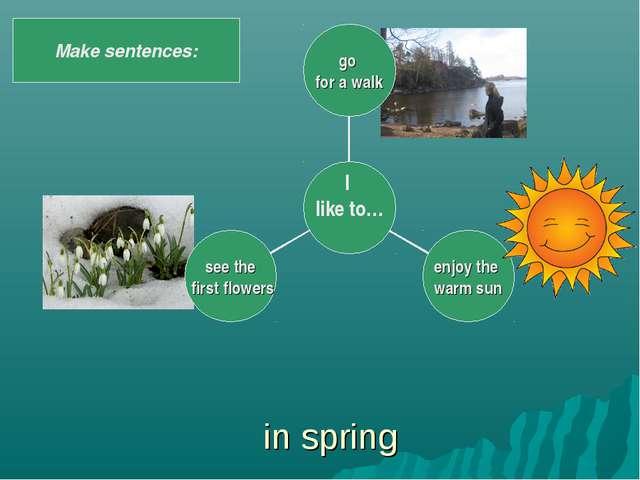 in spring Make sentences: