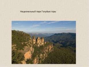 Национальный парк Голубые горы