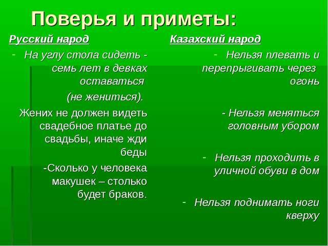 Поверья и приметы: Русский народ На углу стола сидеть - семь лет в девках ос...