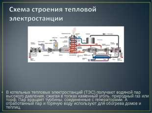 В котельных тепловых электростанций (ТЭС) получают водяной пар высокого давле