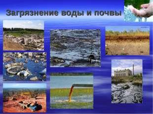 Загрязнение воды и почвы