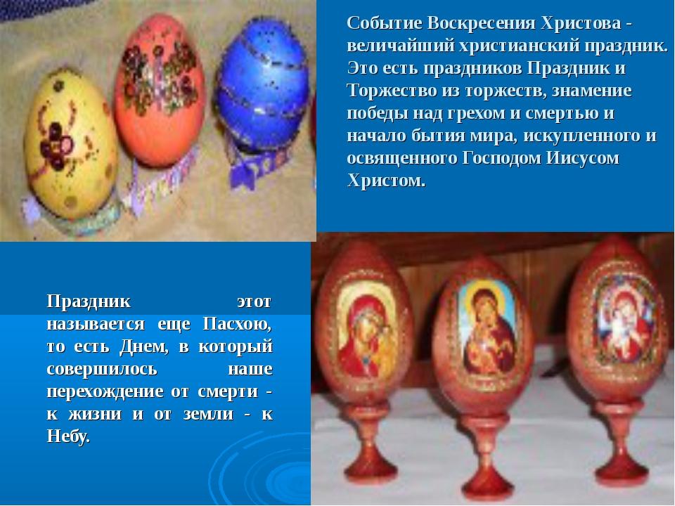 Событие Воскресения Христова - величайший христианский праздник. Это есть пра...