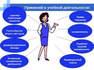 Company name Применяй в учебной деятельности: Индивидуальный подход Социально