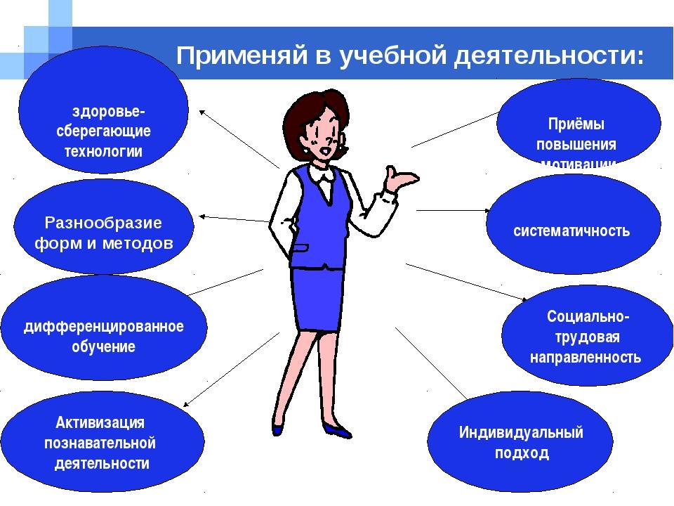 Company name Применяй в учебной деятельности: Индивидуальный подход Социально...