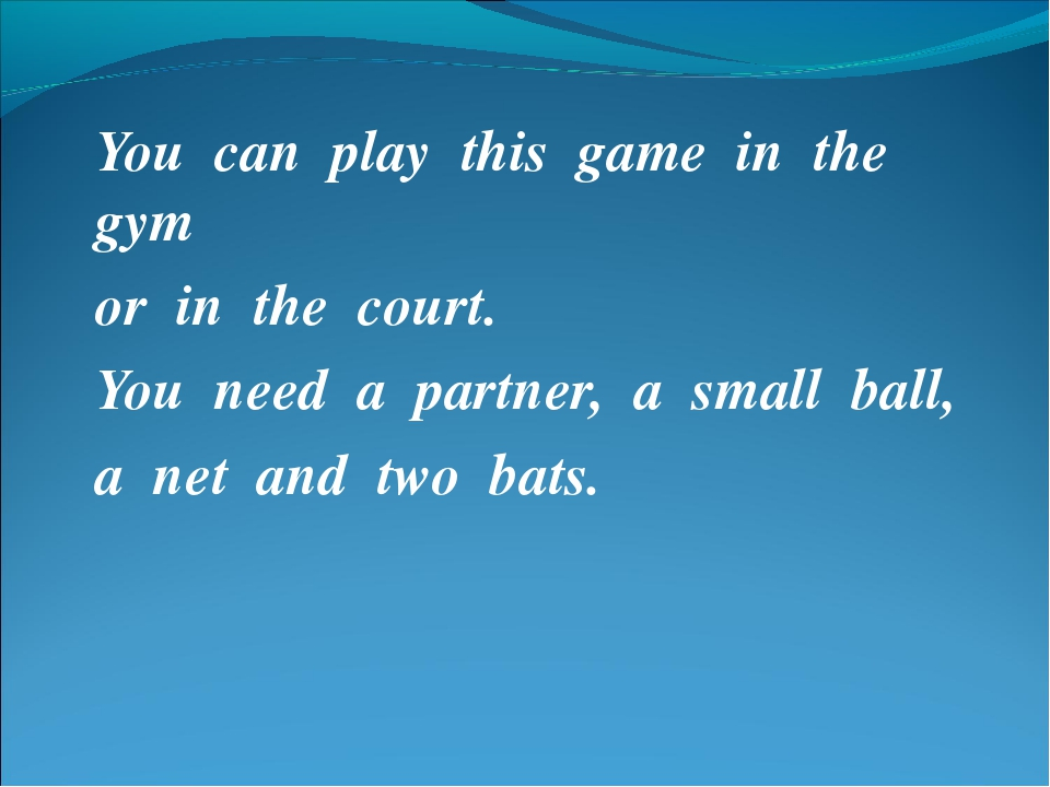 You can play this game in the gym or in the court. You need a partner, a smal...