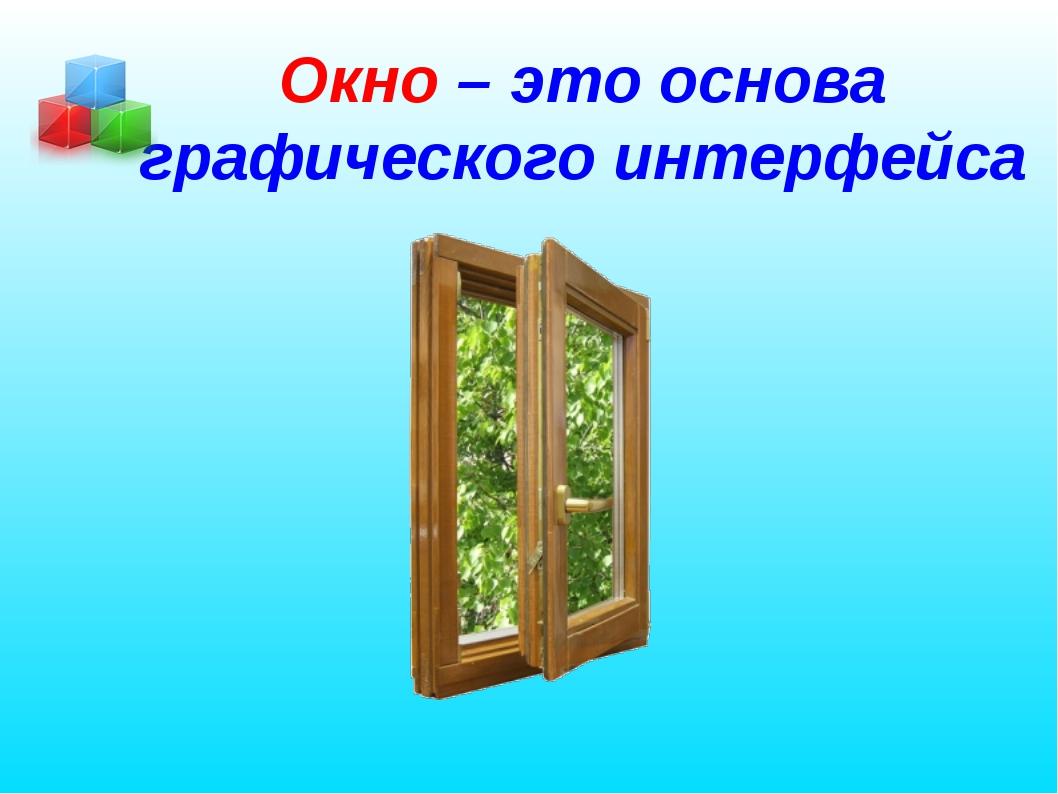 Окно – это основа графического интерфейса