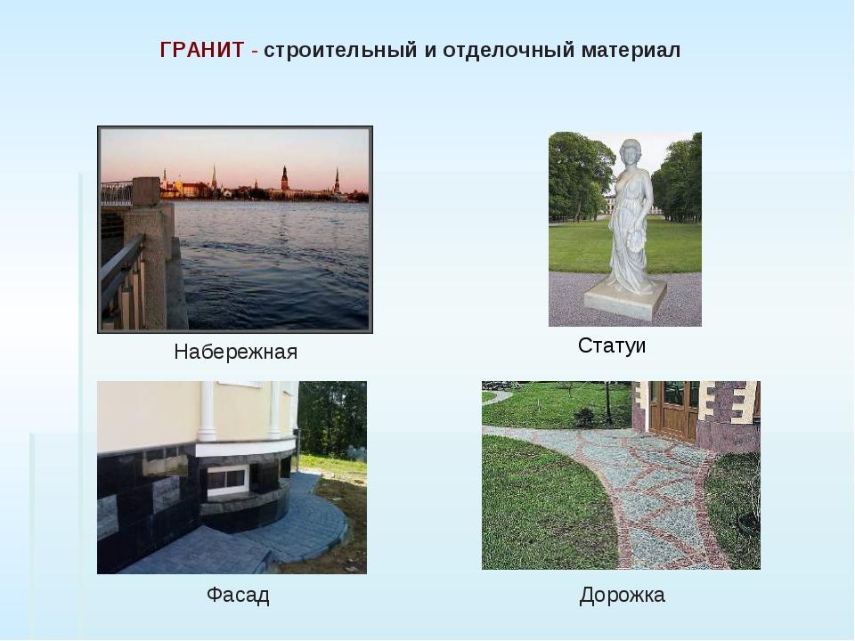 Набережная Статуи Фасад Дорожка ГРАНИТ - строительный и отделочный материал...