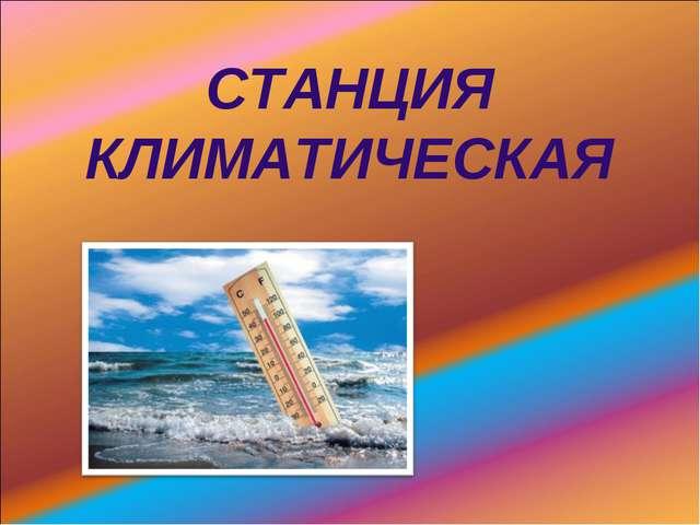 СТАНЦИЯ КЛИМАТИЧЕСКАЯ