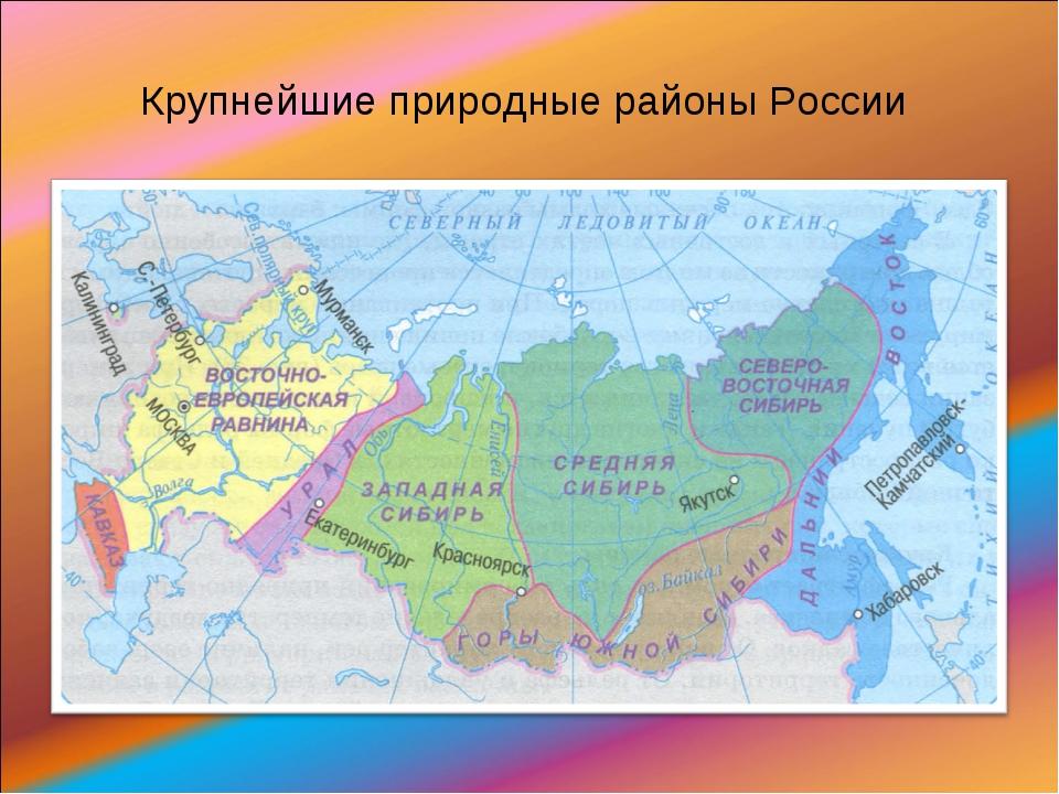 Крупнейшие природные районы России