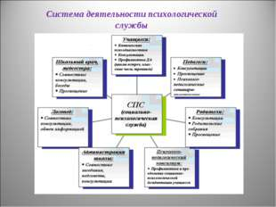 Система деятельности психологической службы