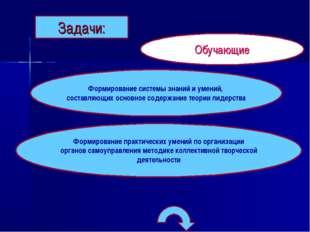 Задачи: Обучающие Формирование практических умений по организации органов сам