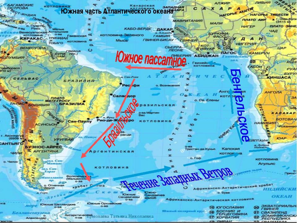 Южная часть Атлантического океана * Ермолаева Татьяна Николаевна Ермолаева Та...