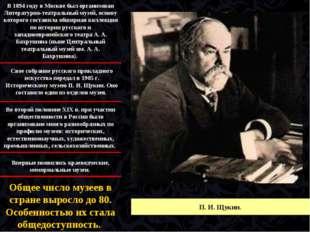 Свое собрание русского прикладного искусства передал в 1905 г. Историческому