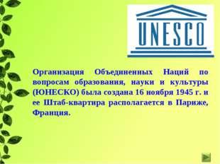 Организация Объединенных Наций по вопросам образования, науки и культуры (ЮНЕ