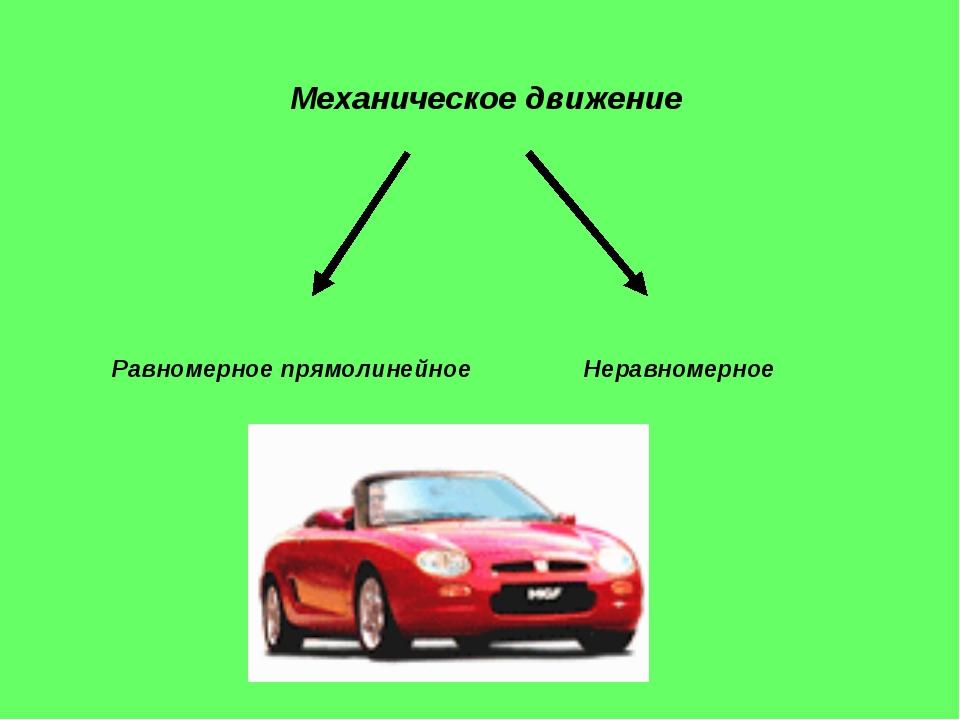 Механическое движение Равномерное прямолинейное Неравномерное