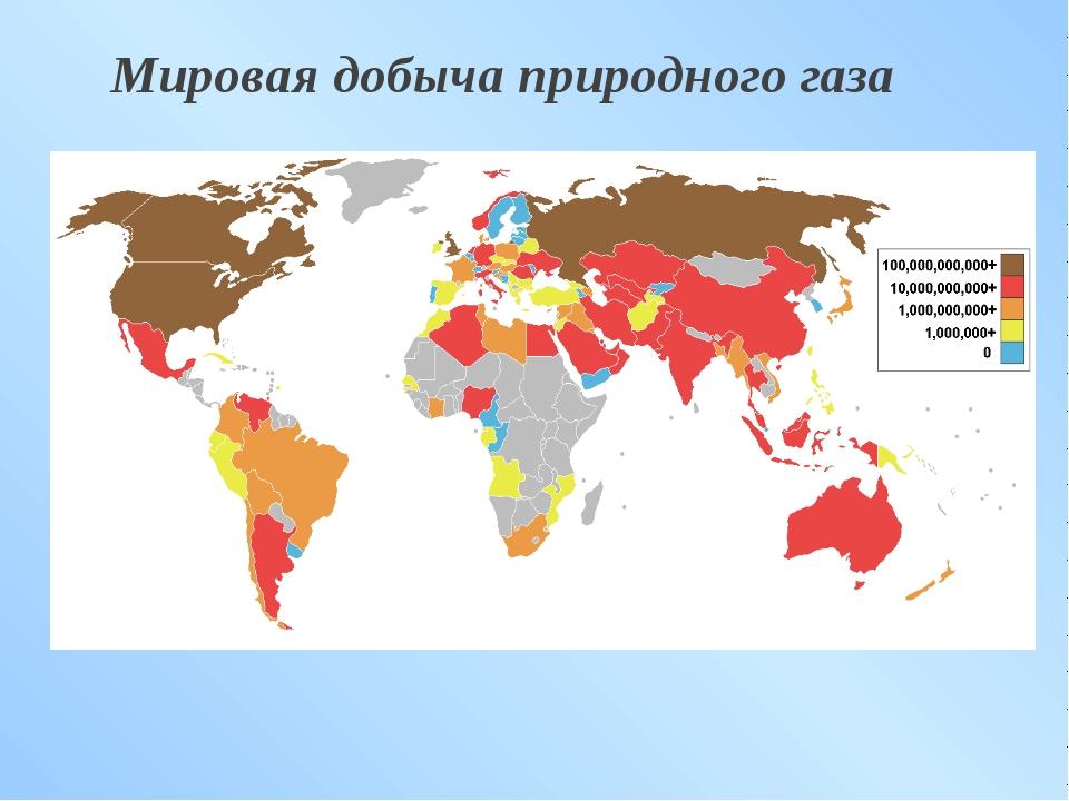 Мировая добыча природного газа
