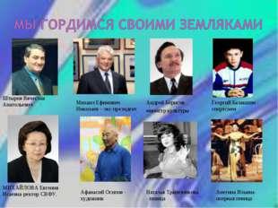 Штыров Вячеслав Анатольевич Михаил Ефимович Николаев – экс-президент Георгий
