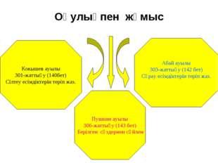 Оқулықпен жұмыс Кокышев ауылы 301-жаттығу (140бет) Сілтеу есімдіктерін теріп