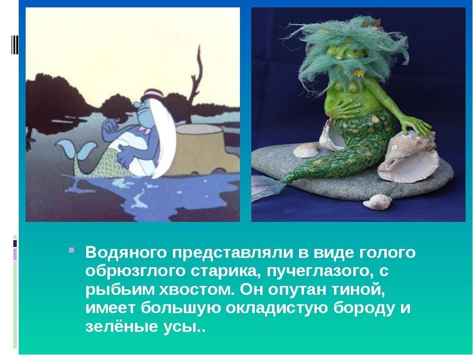 Водяного представляли в виде голого обрюзглого старика, пучеглазого, с рыбьим...
