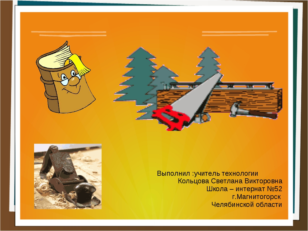 Выполнил :учитель технологии Кольцова Светлана Викторовна Школа – интернат №5...