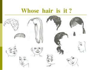 Whose hair is it ?