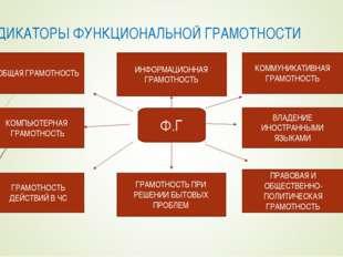 ИНДИКАТОРЫ ФУНКЦИОНАЛЬНОЙ ГРАМОТНОСТИ Ф.Г ОБЩАЯ ГРАМОТНОСТЬ КОМПЬЮТЕРНАЯ ГРАМ