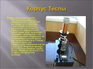 Корпус металлический 0,5 ммЛамповая панелька керамическая. Сама 6П45С вытаще