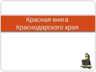 Красная книга Краснодарского края