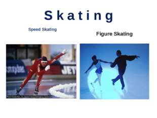 S k a t i n g Speed Skating Figure Skating