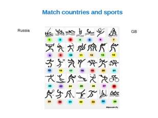 Match countries and sports Russia GB