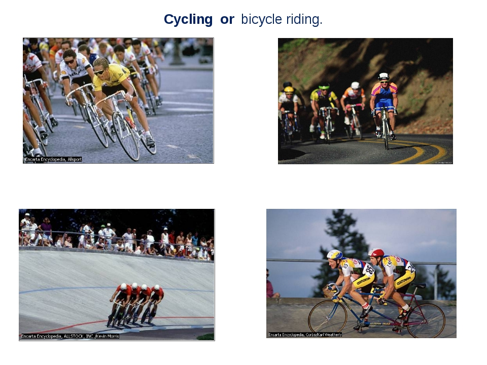 Cycling or bicycle riding.