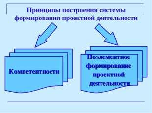 Принципы построения системы формирования проектной деятельности Компетентност