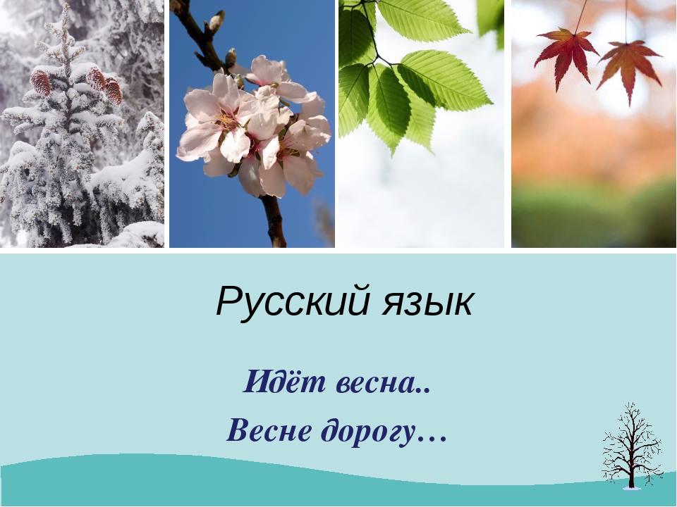 Русский язык Идёт весна.. Весне дорогу…