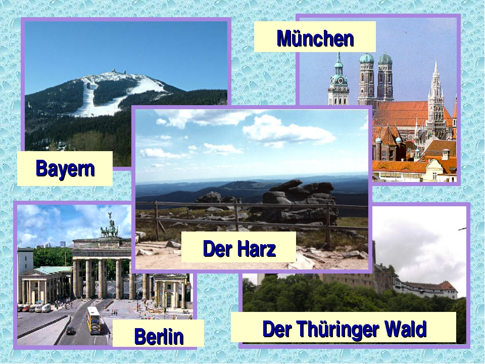 Bayern Der Thüringer Wald Berlin München Der Harz