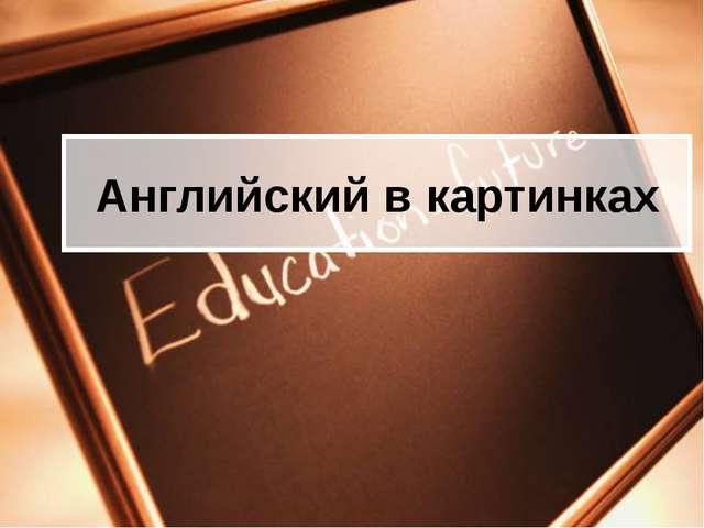 Английский в картинках