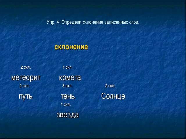 склонение 2 скл. 1 скл. метеорит комета 2 скл. 3 скл. 2 скл. путь тень Солнц...
