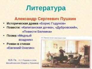 Литература Александр Сергеевич Пушкин Историческая драма «Борис Годунов» Пове