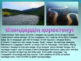 Қазақстанның биік таулы бөлігінің өзендері қар суымен және мұздықтармен қорек