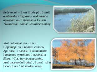 Бейсенсай – өзен. Қабырға өзінің алабында, Науразым ауданында орналасқан. Ұзы