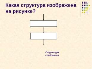 Какая структура изображена на рисунке? Структура следования