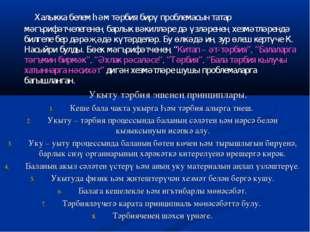 Халыкка белем һәм тәрбия бирү проблемасын татар мәгърифәтчелегенең барлык