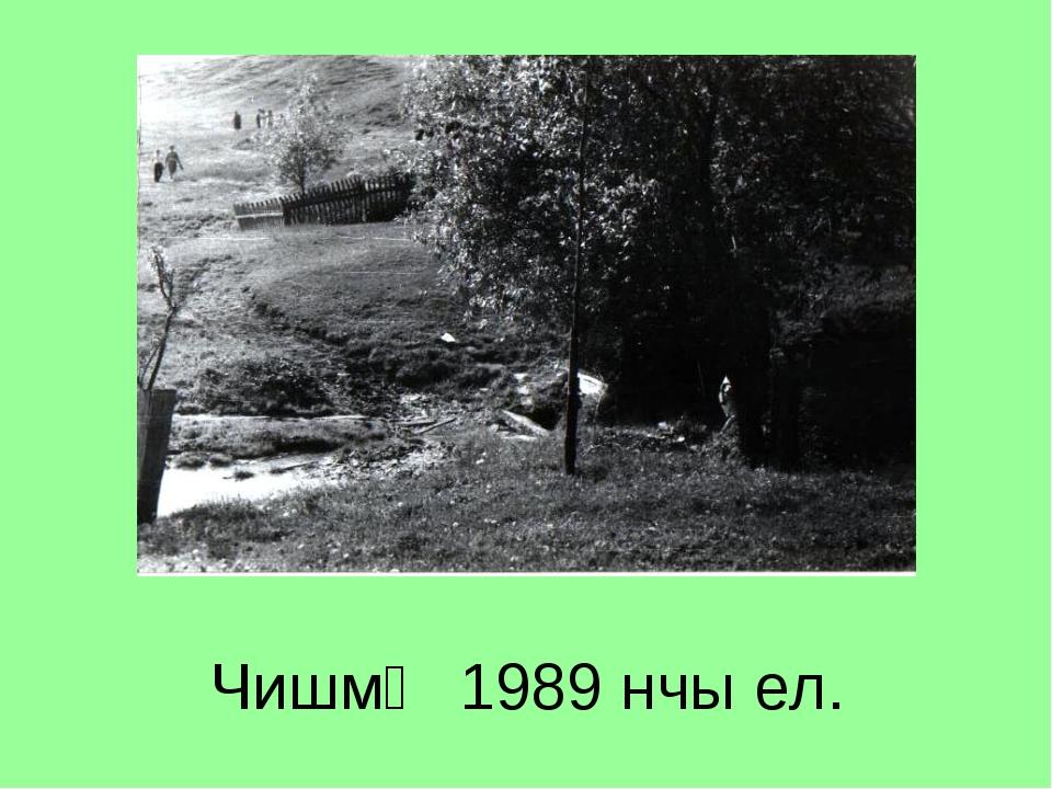 Чишмә 1989 нчы ел.