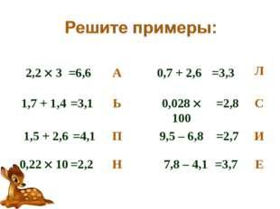 2,2  3 1,7 + 1,4 1,5 + 2,6 0,22  10 0,7 + 2,6 0,028  100 9,5 – 6,8 7,8 – 4