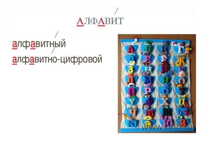 АЛФАВИТ алфавитный алфавитно-цифровой